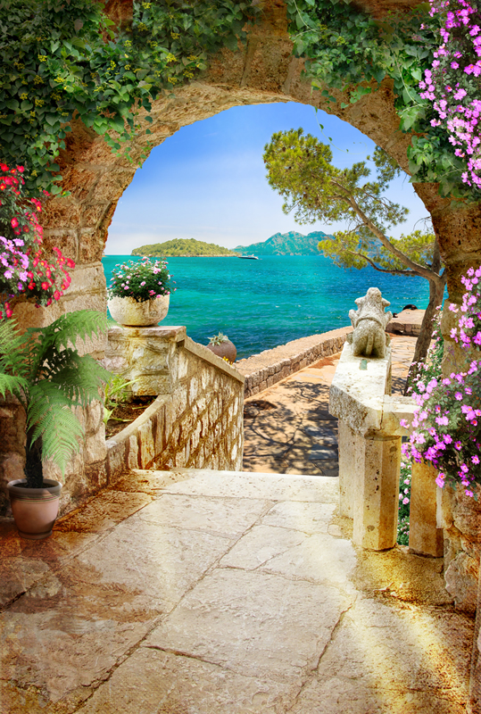 подобных фотообои арки веранды с цветами этой причине