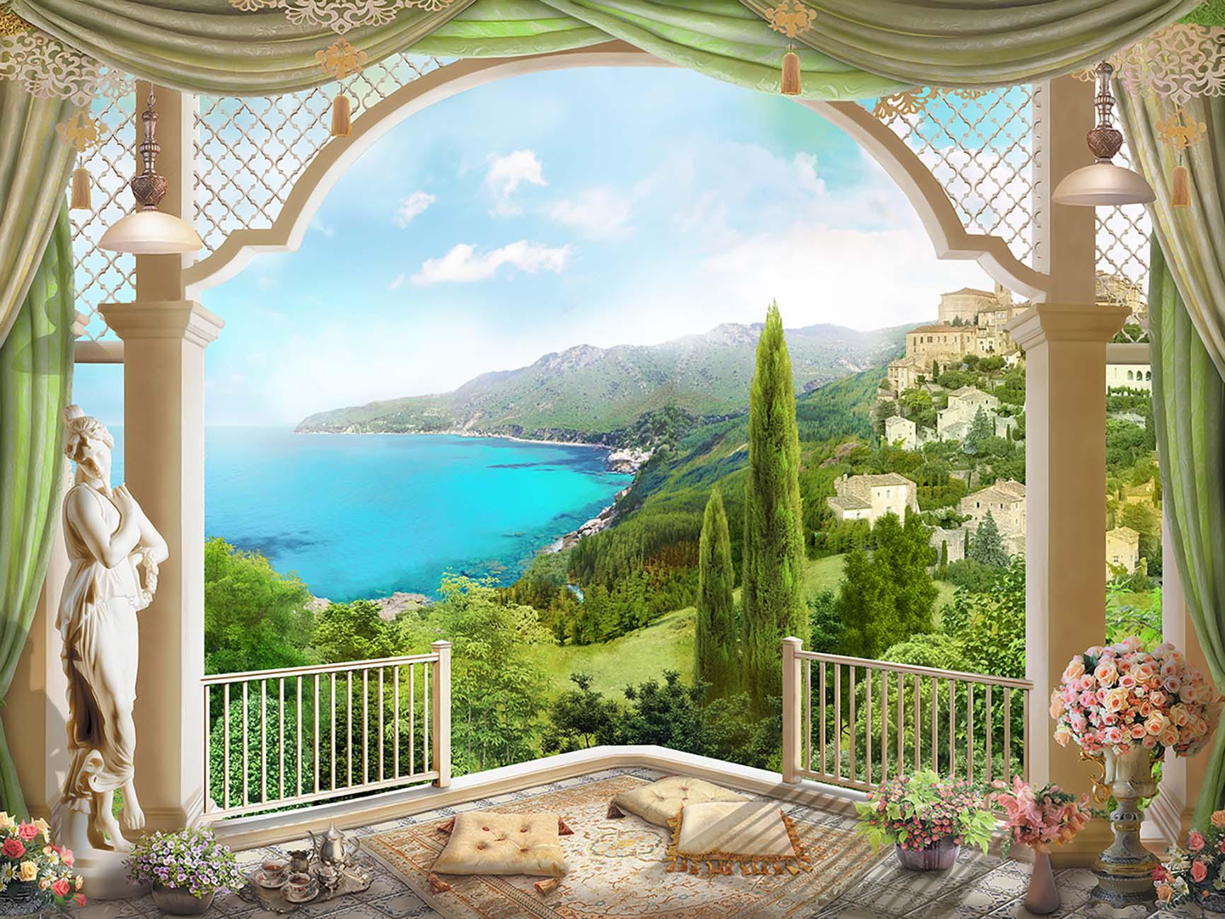 тому нас фотообои окно балкон сузлар хамма